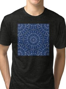 Blue White Mandalas Tri-blend T-Shirt