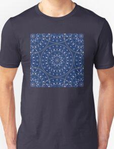 Blue White Mandalas Unisex T-Shirt