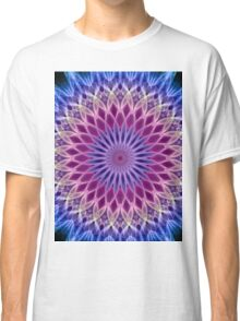 Mandala in pastel blue and pink tones Classic T-Shirt