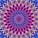 Mandala in pastel blue and pink tones by JBlaminsky
