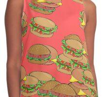 Hamburger Print Contrast Tank