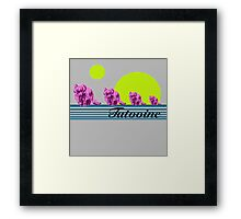 Vintage Vacation SciFi Framed Print