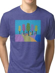 Trees, Houses and Cats Tri-blend T-Shirt