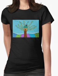 Tree House - Cats  Womens Fitted T-Shirt