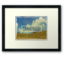 Mountain, clouds, sky: limitless Framed Print