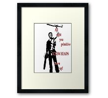 Army of Darkness- Screw Heads Framed Print