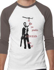 Army of Darkness- Screw Heads Men's Baseball ¾ T-Shirt