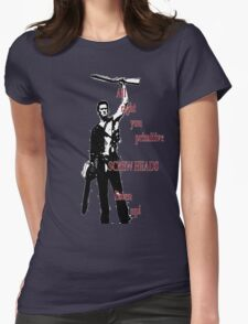 Army of Darkness- Screw Heads Womens Fitted T-Shirt