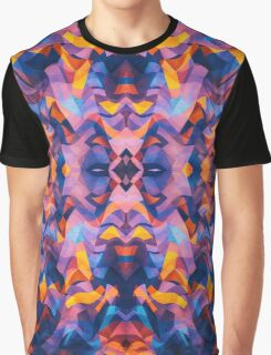 Abstract Surreal Chaos theory in Modern Blue / Orange Graphic T-Shirt