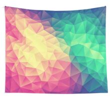 Abstract Polygon Multi Color Cubism Triangle Design Wall Tapestry