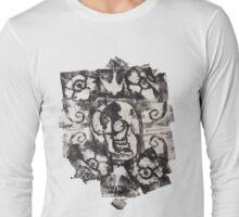 Skulls 'N' Roses Monoprint (Option 1) Long Sleeve T-Shirt