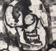 Skulls 'N' Roses Monoprint (Option 1) Sticker