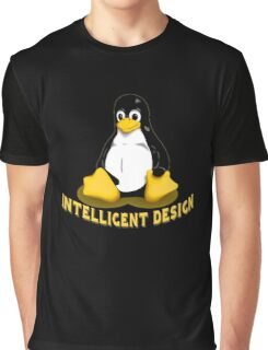 Linux Penguin Intelligent Design Graphic T-Shirt
