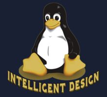 Linux Penguin Intelligent Design Kids Tee