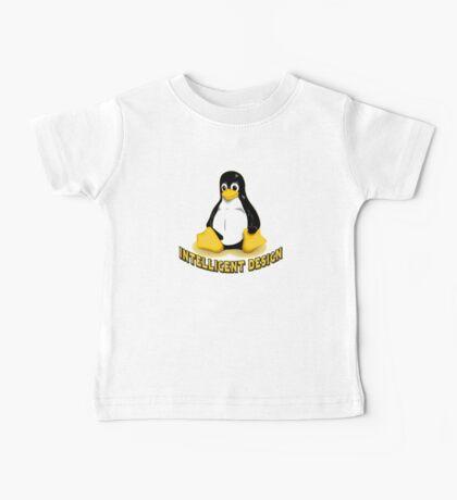 Linux Penguin Intelligent Design Baby Tee
