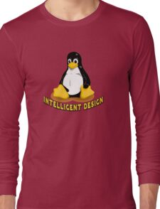 Linux Penguin Intelligent Design Long Sleeve T-Shirt