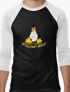 Linux Penguin Intelligent Design Men's Baseball ¾ T-Shirt