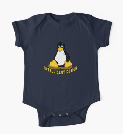 Linux Penguin Intelligent Design One Piece - Short Sleeve