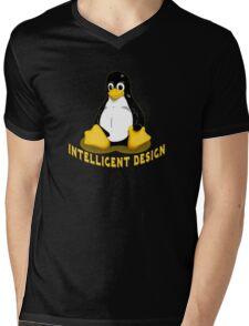 Linux Penguin Intelligent Design Mens V-Neck T-Shirt