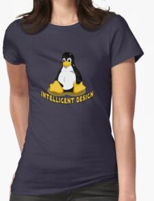 Linux Penguin Intelligent Design Womens Fitted T-Shirt