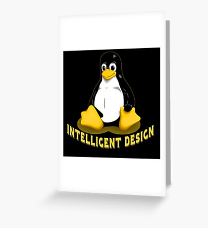 Linux Penguin Intelligent Design Greeting Card