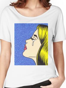 Blonde Crying Comic Girl Women's Relaxed Fit T-Shirt