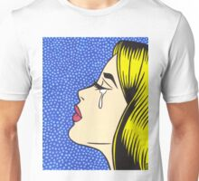 Blonde Crying Comic Girl Unisex T-Shirt