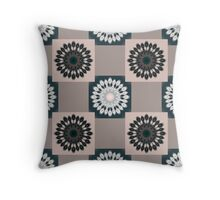 Green, Pink & Blue Kaleidoscope Pattern Throw Pillow