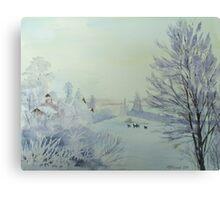 Winter Visitors Canvas Print