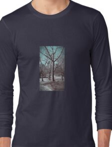 CENTRAL PARK NEW YORK CITY WINTER SCENE (037) Long Sleeve T-Shirt