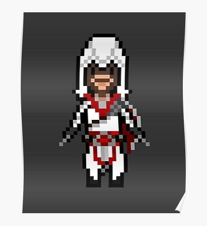 Pixel Ezio Auditore Poster