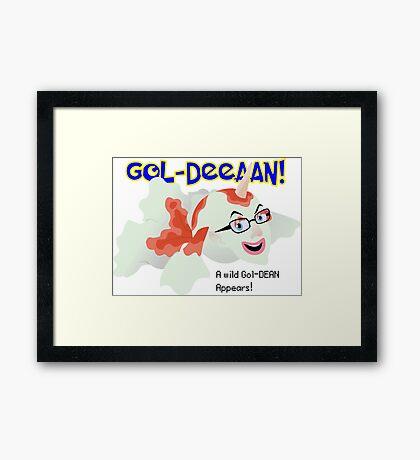 A wild Gol-Dean appears! Framed Print