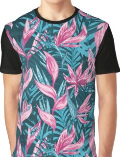 Hand draw tropical flowers  Graphic T-Shirt
