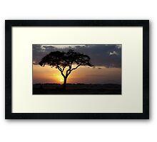 Kenyan Sundown Framed Print
