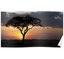 Kenyan Sundown Poster