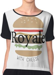 Royale with Cheese - Pulp Fiction Chiffon Top