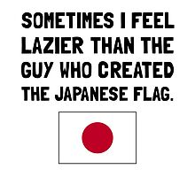 Lazier Japanese Flag by AmazingMart