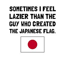 Lazier Japanese Flag Photographic Print