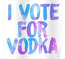 I love vodka college party sticker Poster