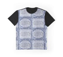 Cloudy blue Sky Star haiku pattern Graphic T-Shirt