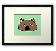 Just a very cute wombat -  Australian animal design Framed Print