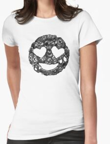 Heart Attack Womens Fitted T-Shirt