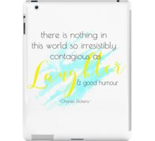laughter and good humor iPad Case/Skin