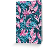 Hand draw tropical flowers  Greeting Card