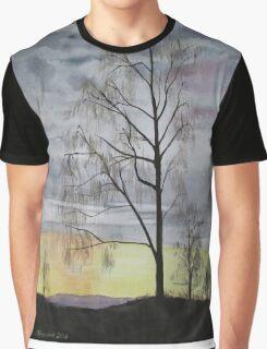 Winter Sunset Skies Graphic T-Shirt