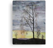 Winter Sunset Skies Canvas Print