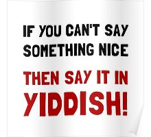 Say It In Yiddish Poster