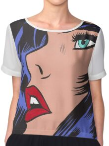 Babe Comic Girl Chiffon Top