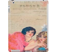 Paris,french,vintage,victorian,beautiful belles,ladies,collage,typography,parchment iPad Case/Skin