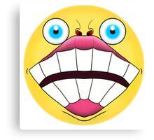 Super Happy Emoji Canvas Print